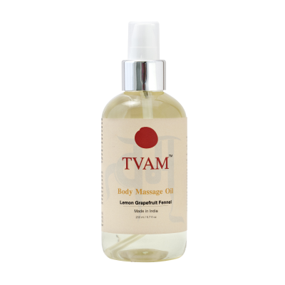 Body Massage Oil - Lemon Grapefruit Fennel - 200ml