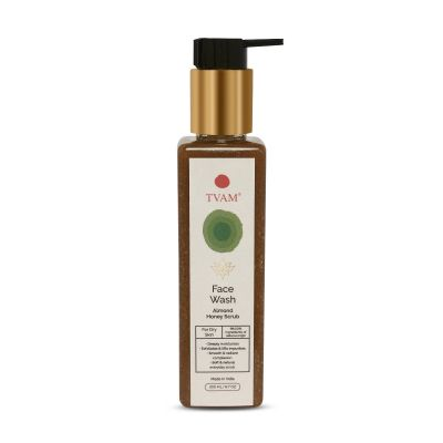 Almond Honey Scrub & Face Wash for Dry Skin