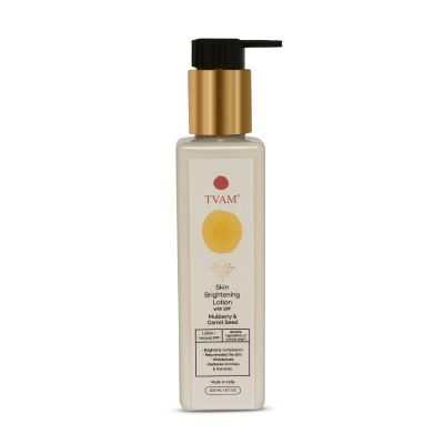 Skin Brightening Lotion with Natural SPF - Mulberry & Carrot Seed