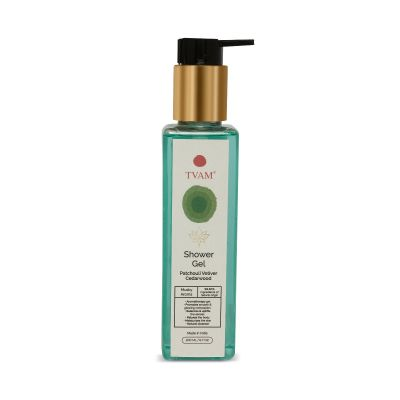 Organic Aromatherapy Shower Gel - Patchouli Vetiver Cedarwood