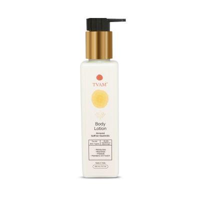 All Natural Body Lotion - Almond Saffron Goats Milk