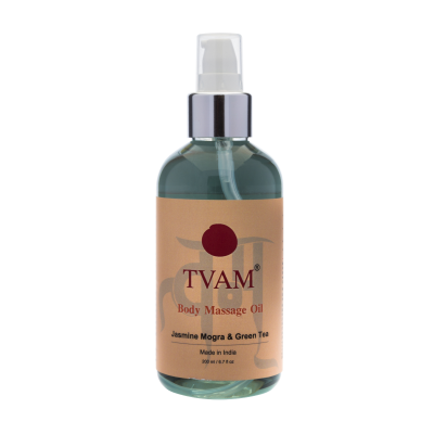 Aromatherapy Body Massage Oil - Jasmine Mogra & Green Tea