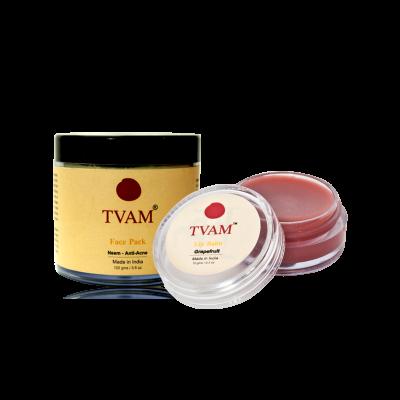 Face Pack - Neem Anti Acne+ Lip Balm Grapefruit COMBO